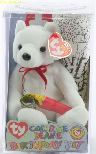 Color Me Beanie Birthday Kit (bear)
