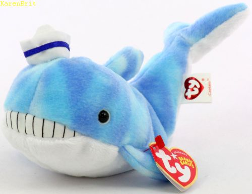 Baby Products Soft Toys TY Beanie Captain the Whale