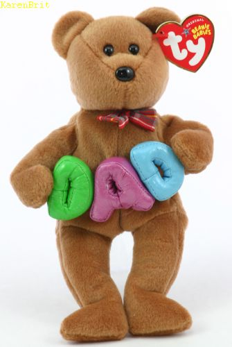 416aeb0f0a7 Ty Beanie Babies - Dad (Ty Store) (purple A)