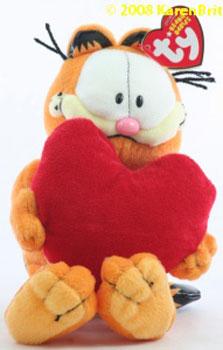 Ty Beanie Babies Garfield Red Heart