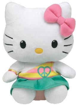 Hello Kitty (peace heart, aqua)