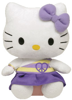 Hello Kitty (peace heart, purple)