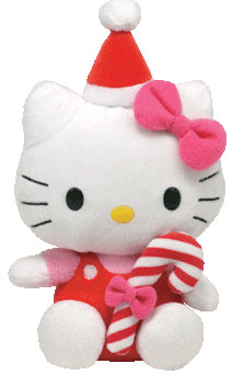 Hello Kitty (candy cane, red)