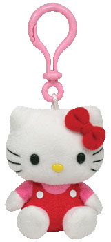 Hello Kitty (red jumper) Key-clip USA