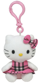 Hello Kitty (Tartan) Key-clip