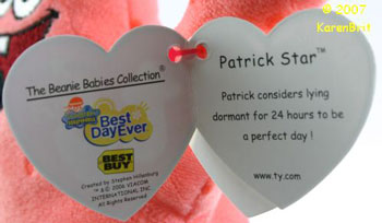 Patrick Star (Best Buy tag)