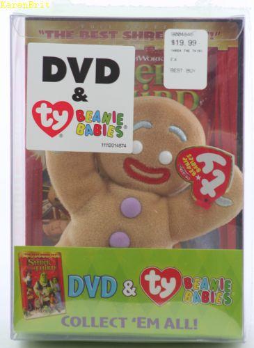 Ty Beanie Babies Gingy Shrek DVD