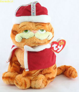 "His Majesty Garfield ""It's good to be king!"" Ty Beanie Baby"