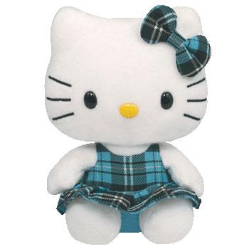 Hello Kitty (aqua tartan)