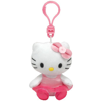 Hello Kitty (ballerina, pink tutu) Key-clip