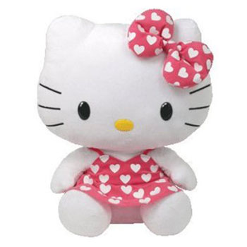 Hello Kitty (white hearts on pink dress)