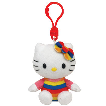 Hello Kitty (rainbow) Key-clip