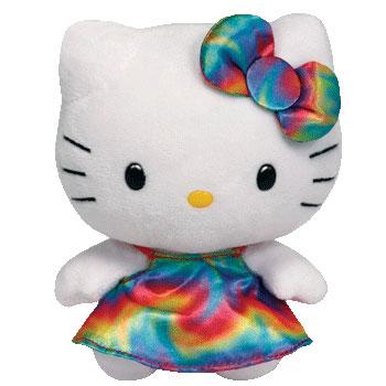 Hello Kitty (rainbow dress)