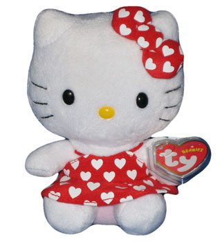 Hello Kitty (white hearts on red dress)