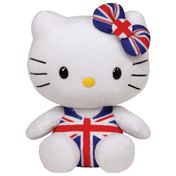 Hello Kitty (Union Jack overalls)