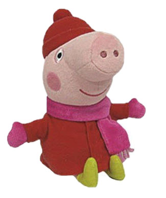 Peppa Pig (hat and scarf)