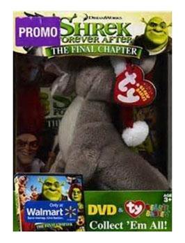 Ty Beanie Babies Donkey Shrek DVD Final Chapter Plush Exclusive