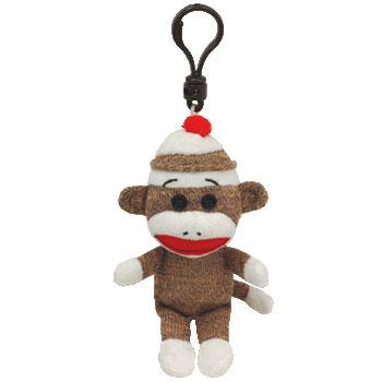SOCK MONKEY (brown) Key-clip