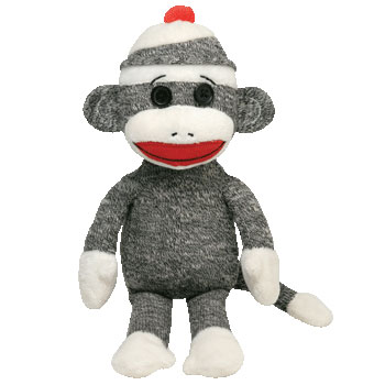 SOCK MONKEY (gray)