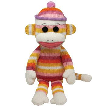 SOCK MONKEY (stripes pastel)