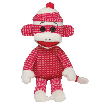 SOCK MONKEY (quilted, pink)
