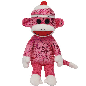 SOCK MONKEY (pink sparkle)