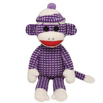 SOCK MONKEY (purple sparkle)