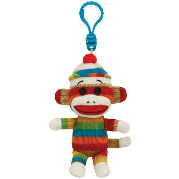 SOCK MONKEY (stripes) Key-clip