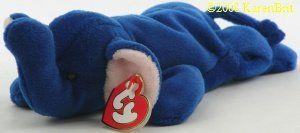 Royal Blue Peanut Ty Beanie Baby