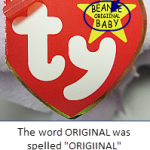Ty Beanie Baby 5th Generation Swing Tags