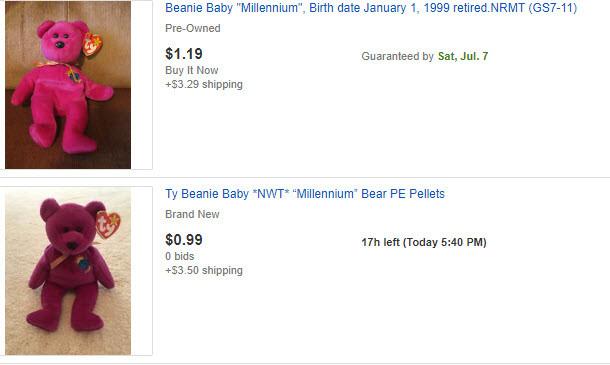 Millenium vs Millennium Ty Beanie Baby - Variations and Values
