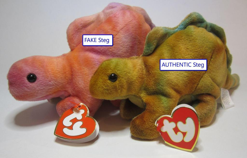 Ty Beanie Baby Steg Fake vs Authentic Comparison