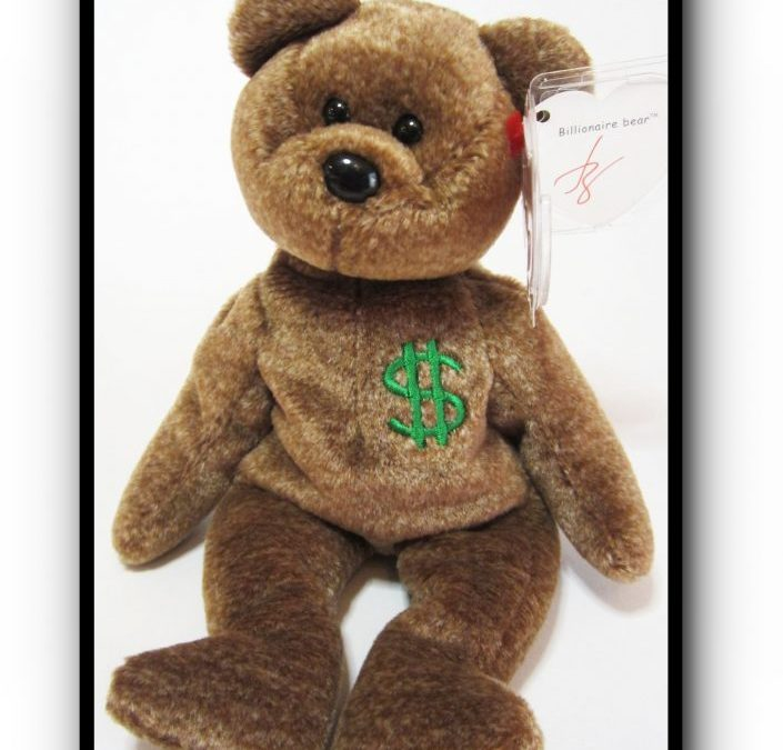Authentic Ty Billionaire #1 Bear Beanie Baby