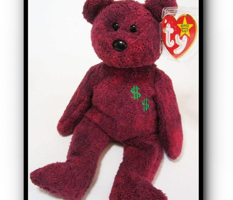 Authentic Ty Billionaire #2 Bear Beanie Baby