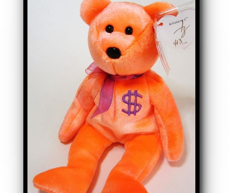 Authentic Ty Billionaire #3 Bear Beanie Baby