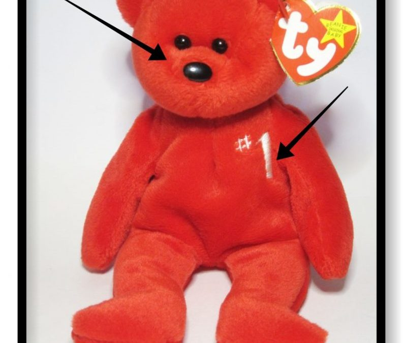 Ty Beanie Baby #1 Bear Fake vs Authentic Comparison