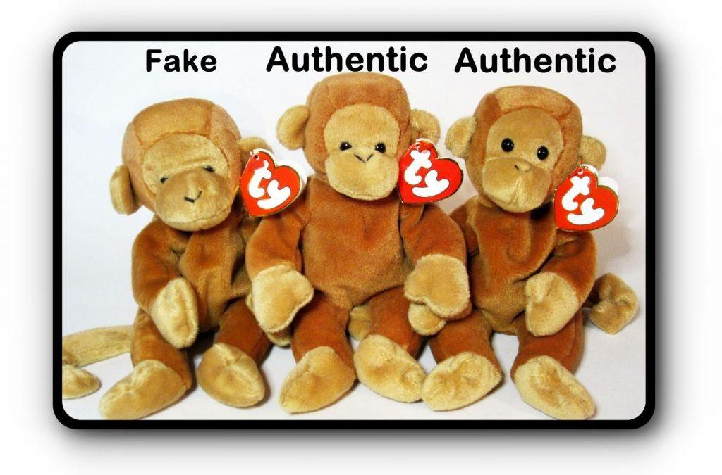 Ty Beanie Baby Nana Fake vs Authentic Comparison