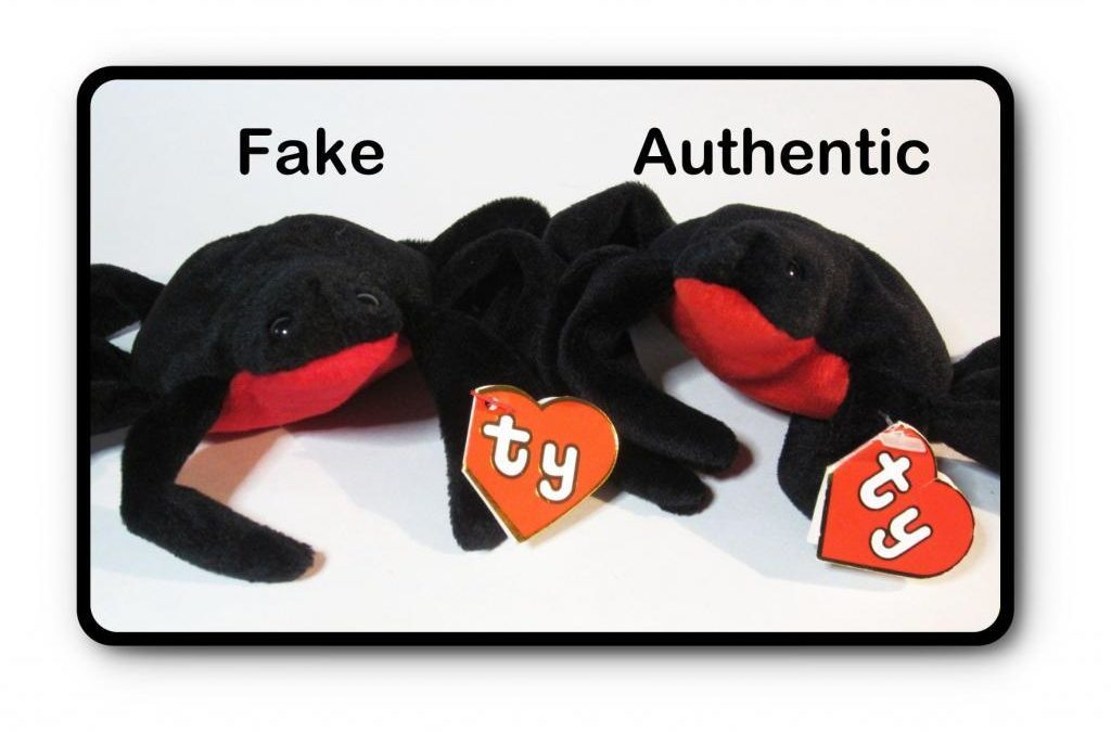 Ty Beanie Baby Web Fake vs Authentic Comparison