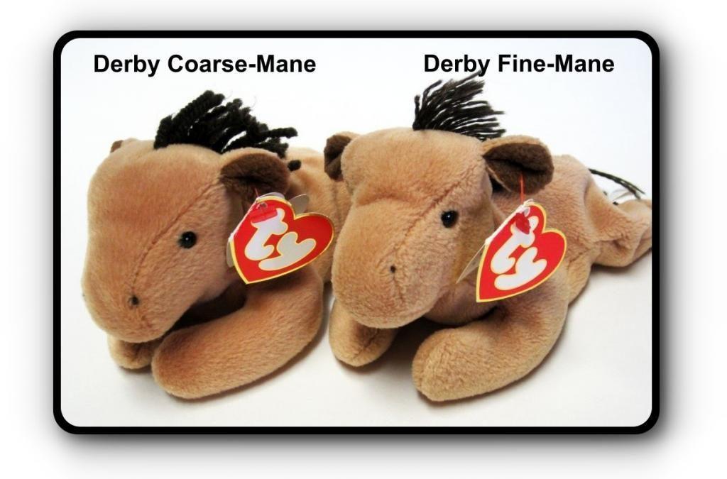 Ty Beanie Baby Derby – Fine-Mane vs Coarse Mane